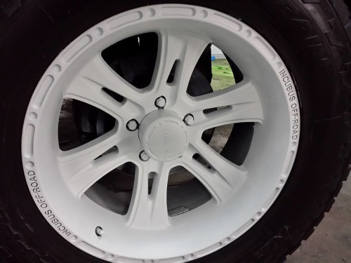 Matte White Dipped Truck Rims