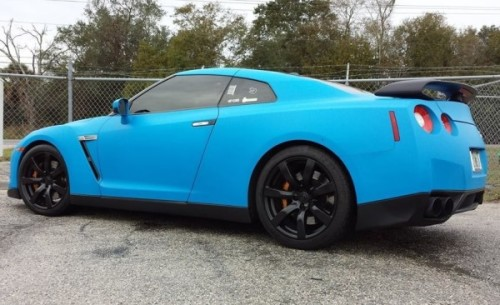 GTR Dipped Light Blue with Gloss Black Rims