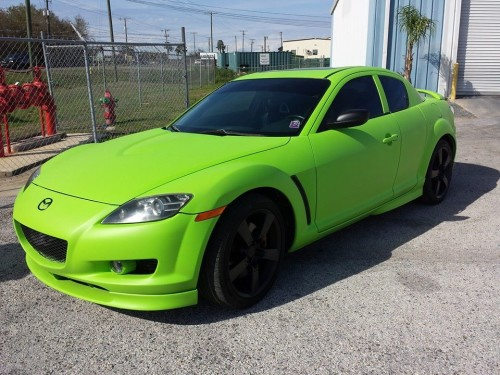 Electric Lime Green RX8 Dip with Black Dipped Rims