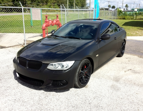 Satin Black Dipped BMW