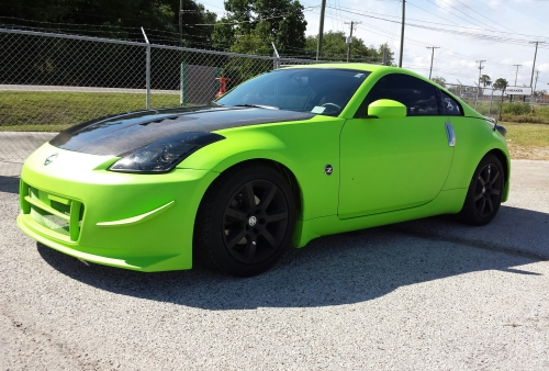 Electric Lime Green Dipped Body on 350z.