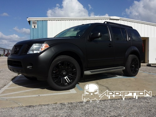 Semi Satin Black Dipped Pathfinder with Gloss Black Rims