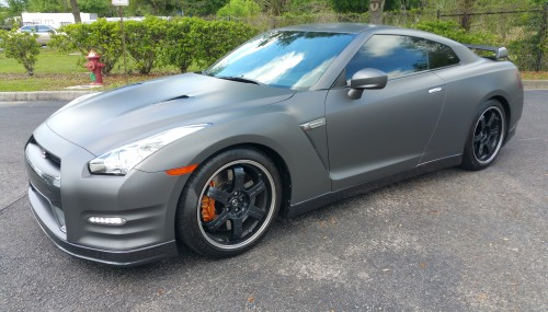 Anthracite Gray Satin GT-R