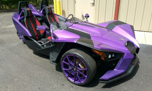 High Gloss Plum Crazy Purple - Matching Rims with Black Striping - Slingshot