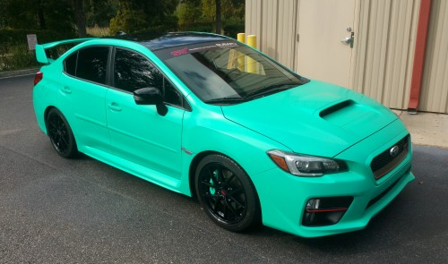 Custom Tiffany/Seafoam Mix - Premium Satin Coating - Matching Calipers - Gloss Black Rims, Roof and Mirrors