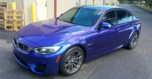High Gloss Blurple on the BMW M3