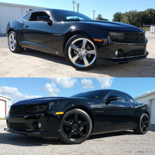 Before and After Dipped Black Rims
