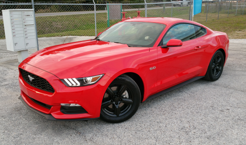 Gloss Black Dipped Rims on this Mustang