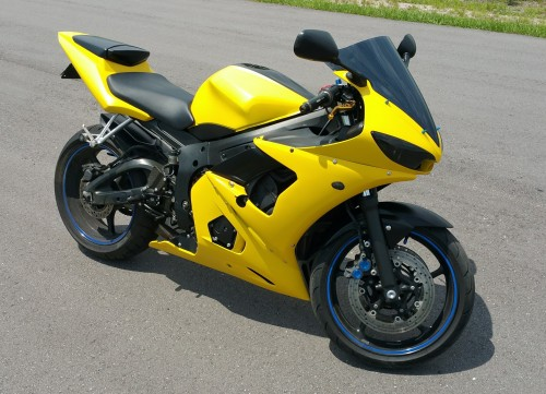 Satin Yellow Dipped Fairings, Tinted Headlights and Windscreen