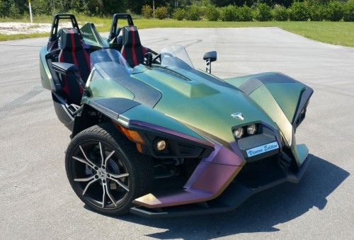Polaris Slingshot in Beta Color Changing Large Flake Wrap