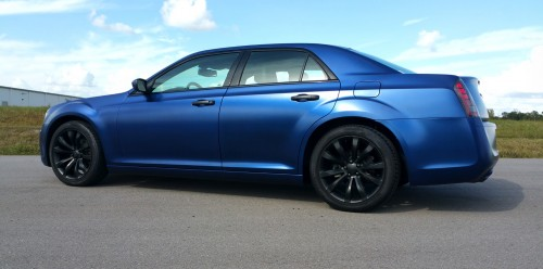 Deep Sea Blue full body Liquid Wrap and Gloss Black Wheels